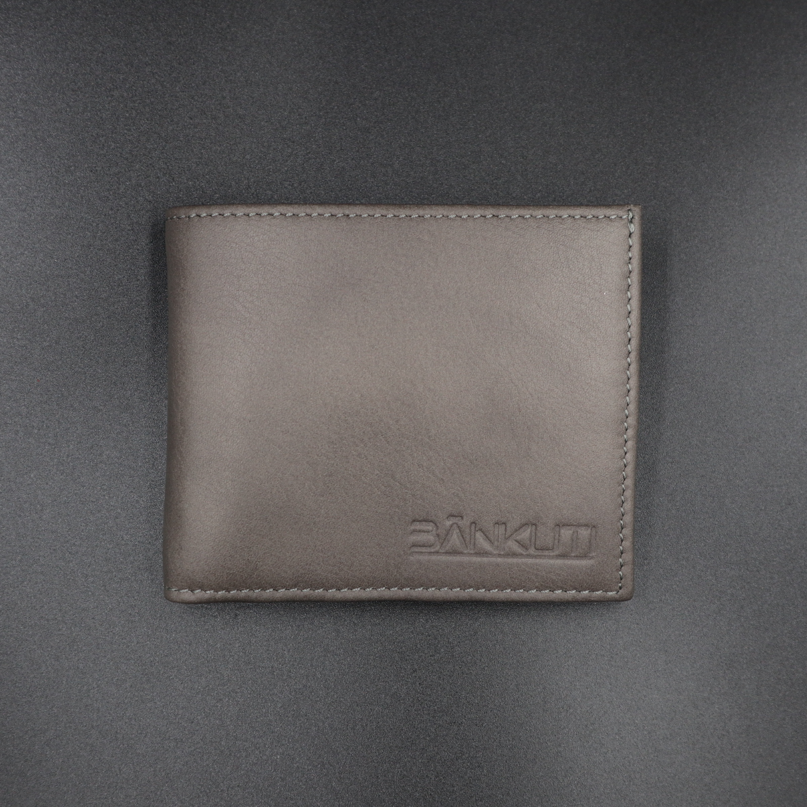 LEATHER WALLET FOR MEN GRAY