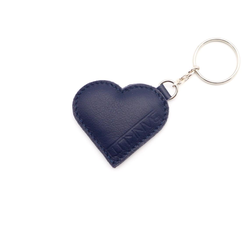 LEATHER HEART KEYCHARM